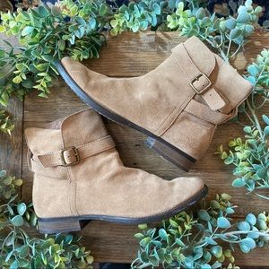 Sam Edelman Suede Ankle Booties Taupe Size 8.5